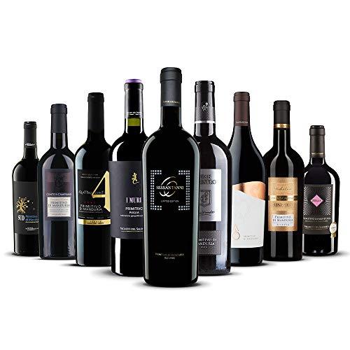 Primitivo-Genießer-Paket - 9 exklusive Rotweine aus Italien!