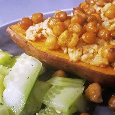 Orientalische Süßkartoffel mit Kichererbsen - Vino Culinario