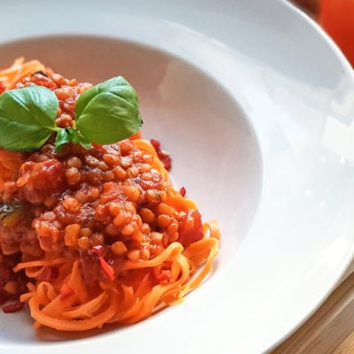 Vegane Linsen-Bolognese - Vino Culinario