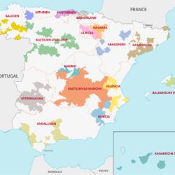 Weinanbaugebiete Spanien Karte - Vino Culinario
