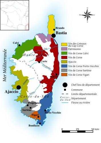 Das französische Weinbaugebiet Korsika - Vino Culinario