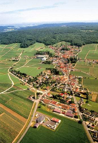 Die Landschaft der Champagne ist geprägt von weitläufigen Anbauflächen. - Vino Culinario