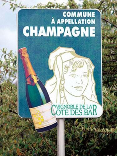 Schild Commune Champagne - Vino Culinario