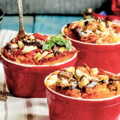 Strata con Melanzane Brotauflauf mit Aubergine italienisch- Vino Culinario