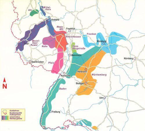 In Deutschland gibt es insgesamt 13 Weinanbaugebiete - Vino Culinario