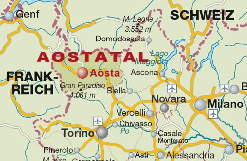 Weinbaugebiet Aostatal / Valle d'Aosta - Vino Culinario