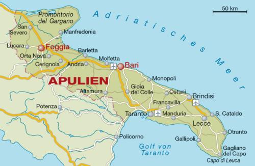 Weinbaugebiet Apulien - Vino Culinario
