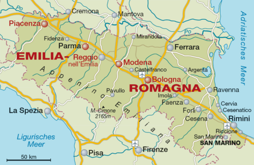 Weinbaugebiet Emilia-Romagna - Vino Culinario