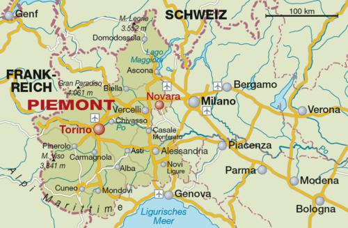 Weinbaugebiet Piemont - Vino Culinario
