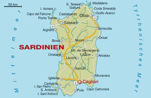 Weinbaugebiet Sardinien - Vino Culinario