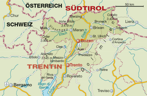 Weinbaugebiet Südtirol - Vino Culinario