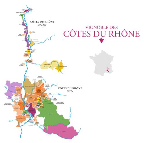 Das französische Weinanbaugebiet Côtes du Rhône - Vino Culinario