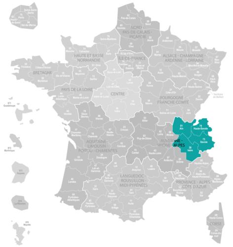 Weinanbaugebiet Savoyen Savoie Landkarte Frankreich