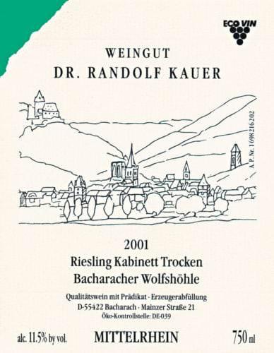 Deutsches Weinetikett - Vino Culinario
